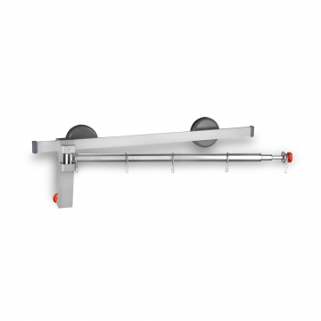 Telescopic arm and swivelling dividers for rail - Image Principal